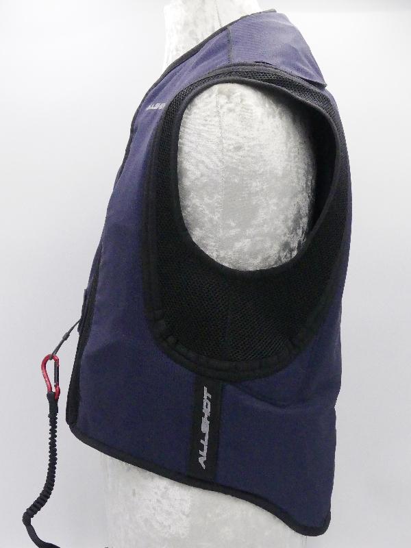 allshot airbag safely adulte bleu marine Droite