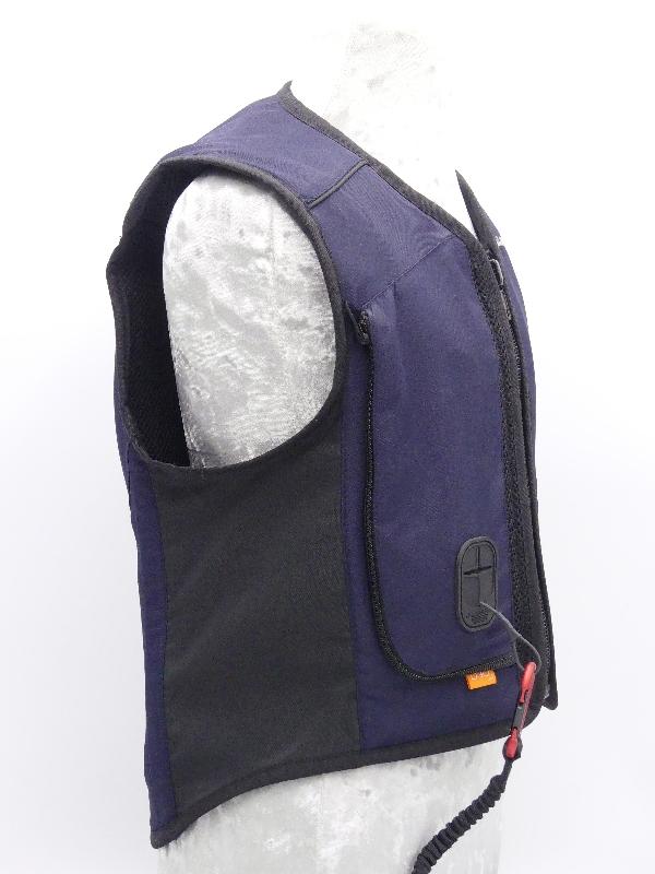 allshot airbag safely enfant bleu marine gauche