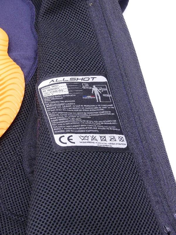 Allshot airbag Safely détails étiquette conformité Normes