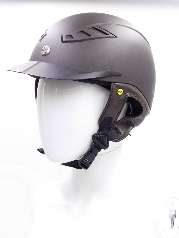 back on track casque eq3 lynx lisse marron face