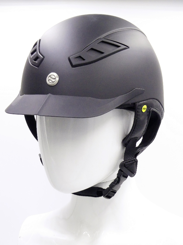 back on track casque eq3 lynx lisse noir face