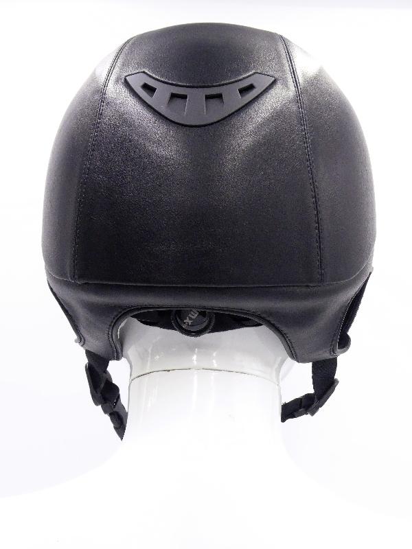 back on track casque eq3 lynx simili cuir noir arrière