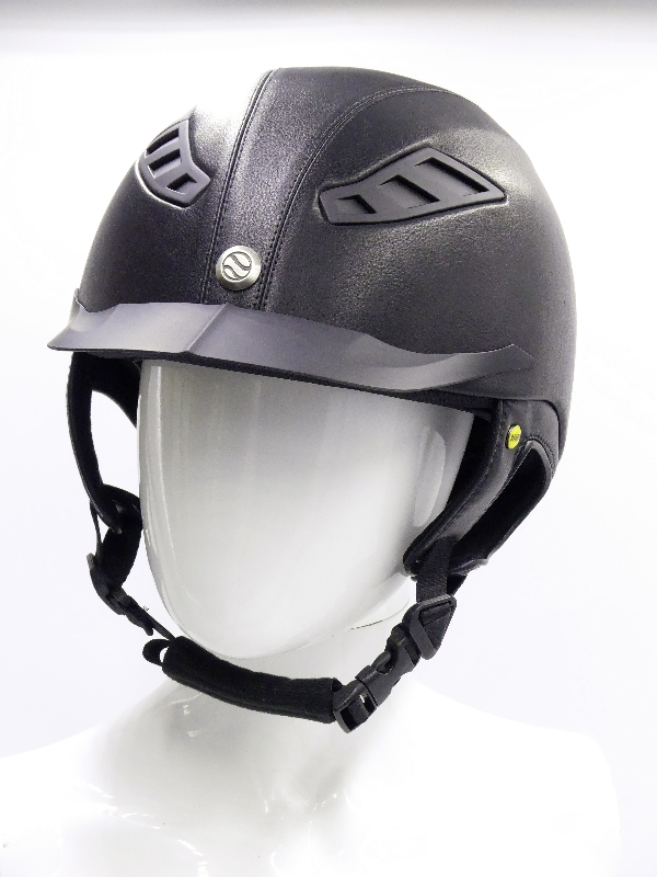 back on track casque eq3 lynx simili cuir noir face