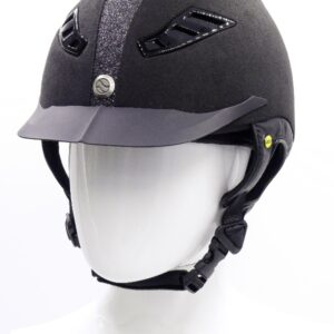 back on track casque eq3 lynx strass noir micromocca face