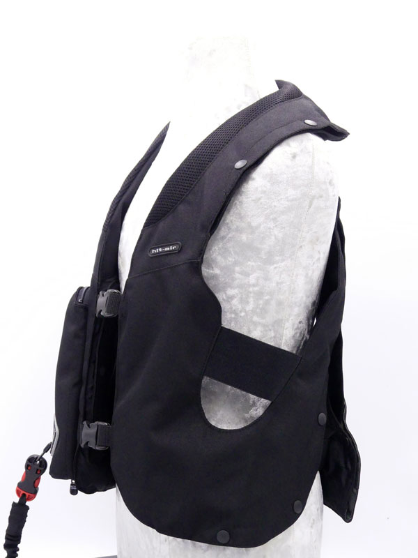Airbag équitation Hit Air Complet Kid noir gauche