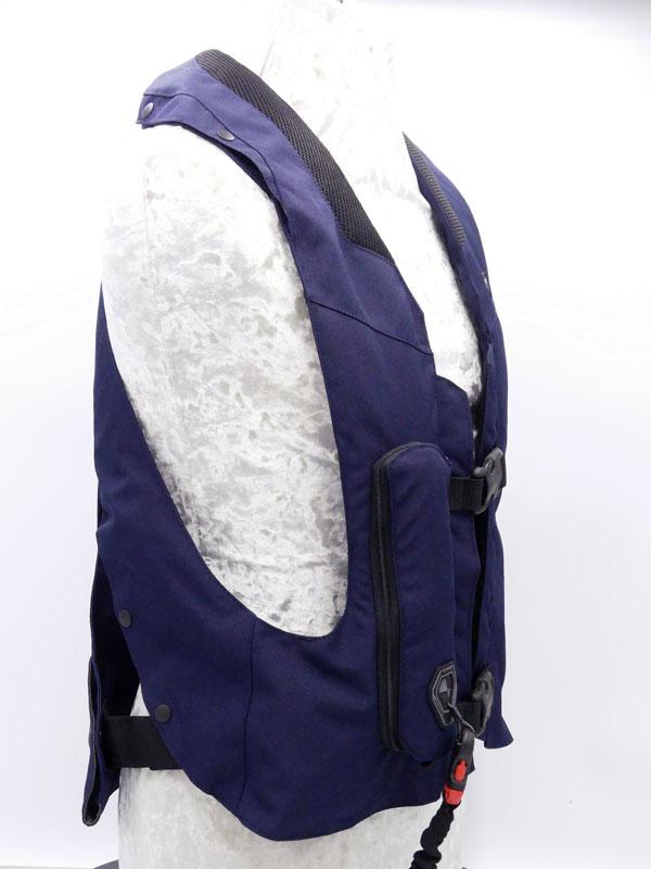Airbag équitation Hit Air Complet Medium bleu Coté