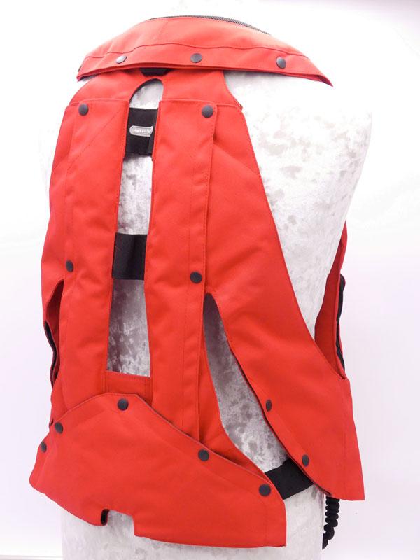 Airbag équitation Hit Air Complet Medium Rouge arrière