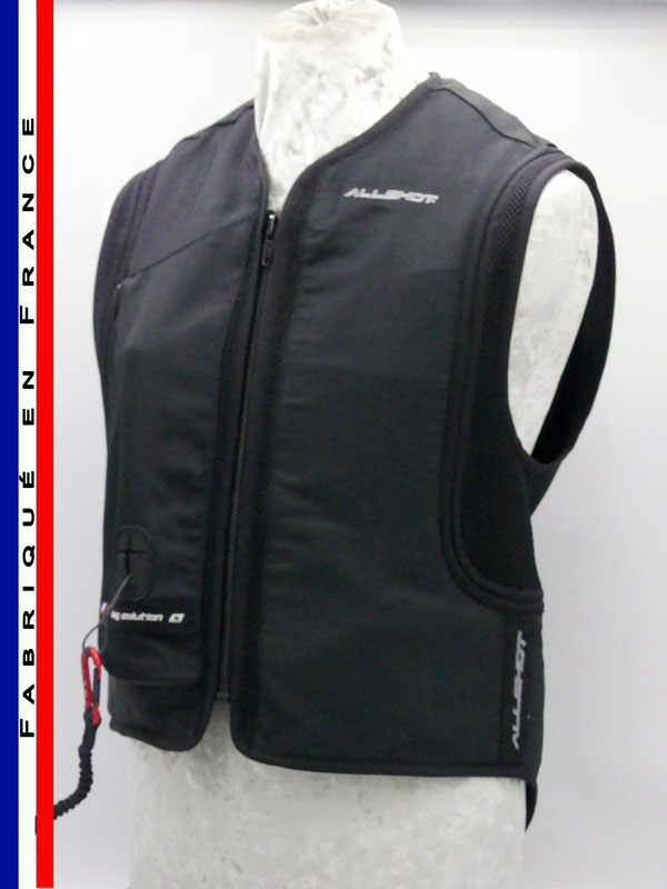 Allshot Safely Gilet airbag adulte Taille 4XL Noir France