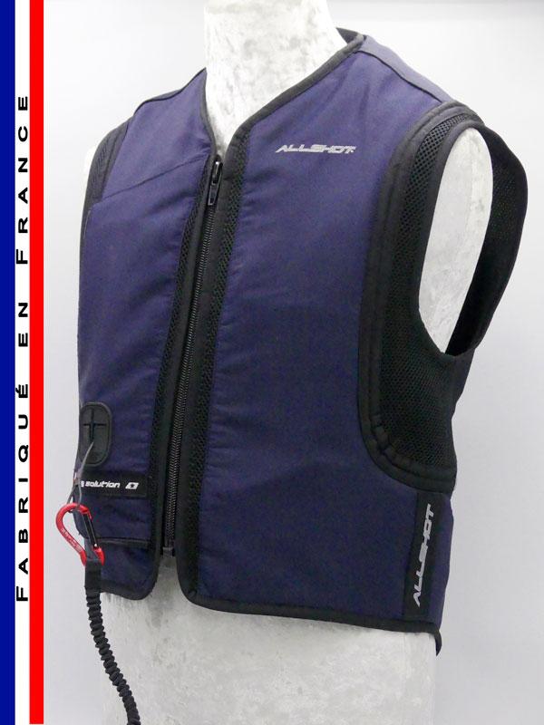 Allshot Safely Gilet airbag adulte Taille M bleu marine France