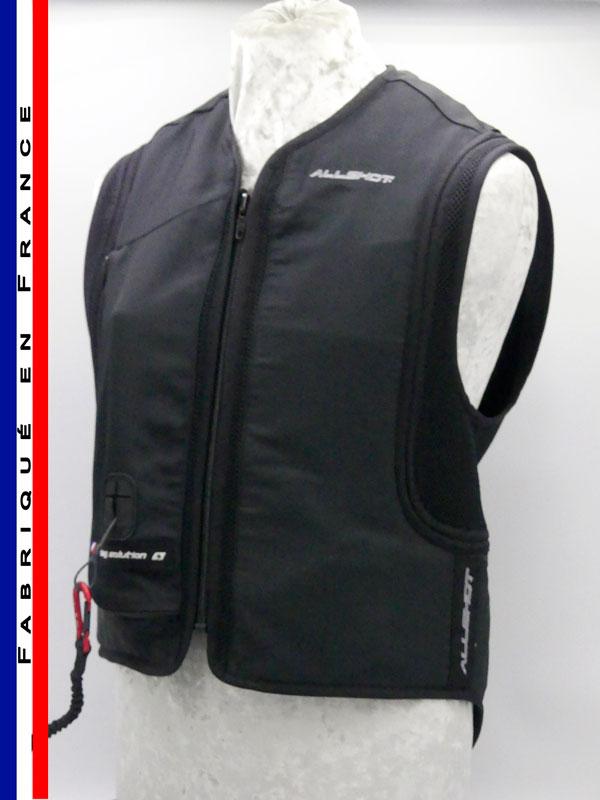 Allshot Safely Gilet airbag adulte Taille XXS noir France