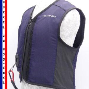 Allshot Safely Gilet airbag enfant Taille 2 Bleu Marine France